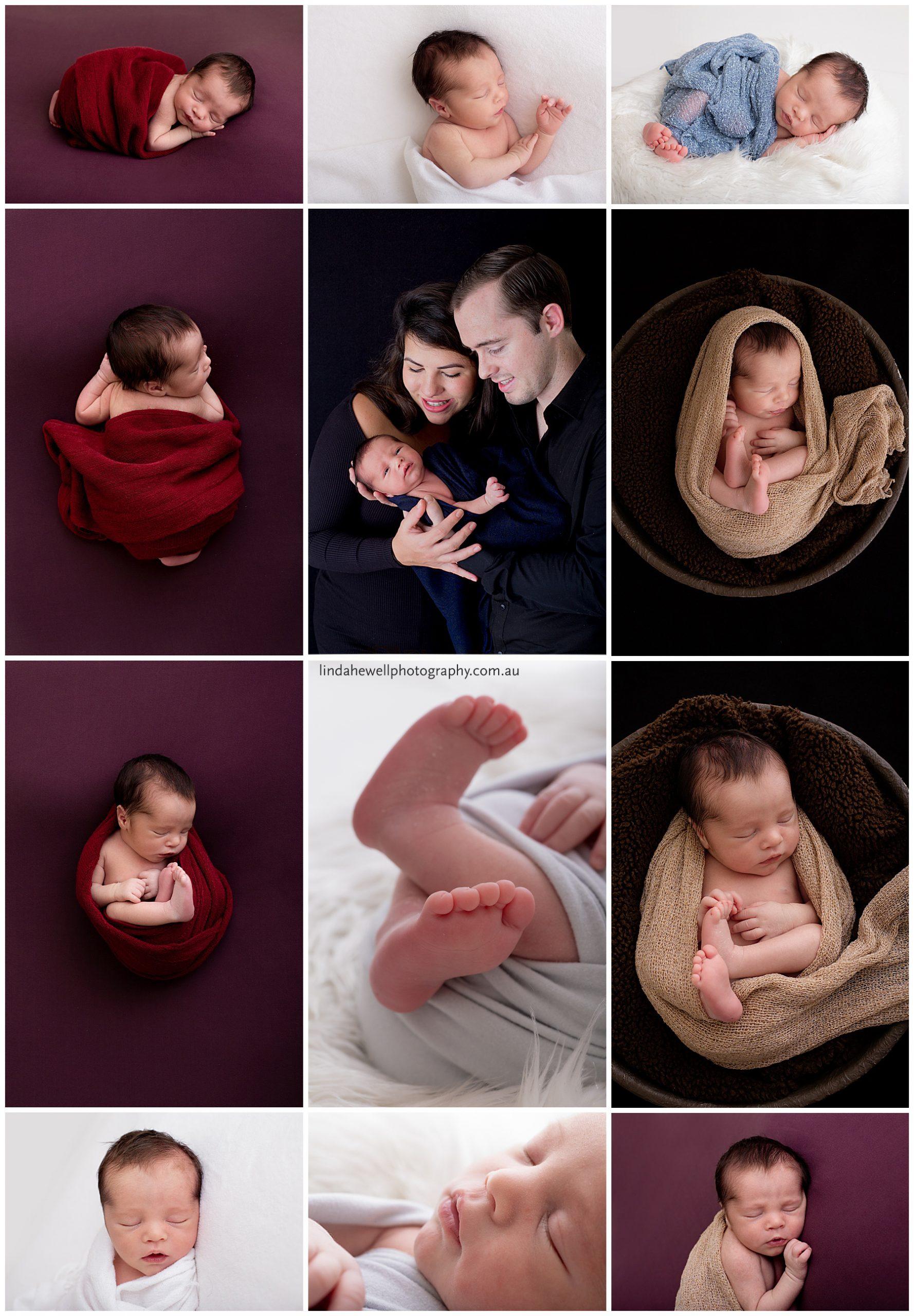 Newborn baby studio Perth