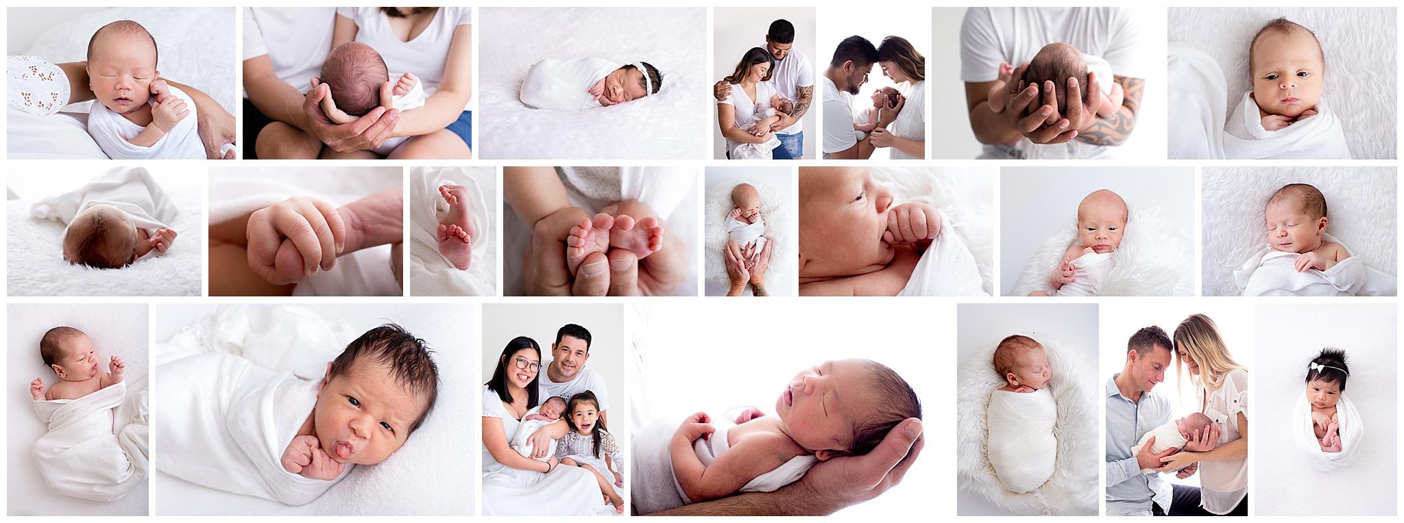 short sweet all white newborn sessions ellenbrook perth