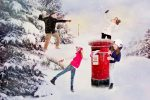 Creative family christmas card Photography